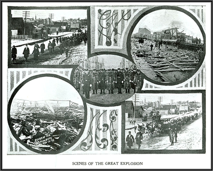 Scenes of Butte, Montana's 1895 fire disaster