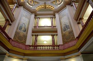 The interior of the Butte-Silver Bow Courthouse, photo by KXLF TV