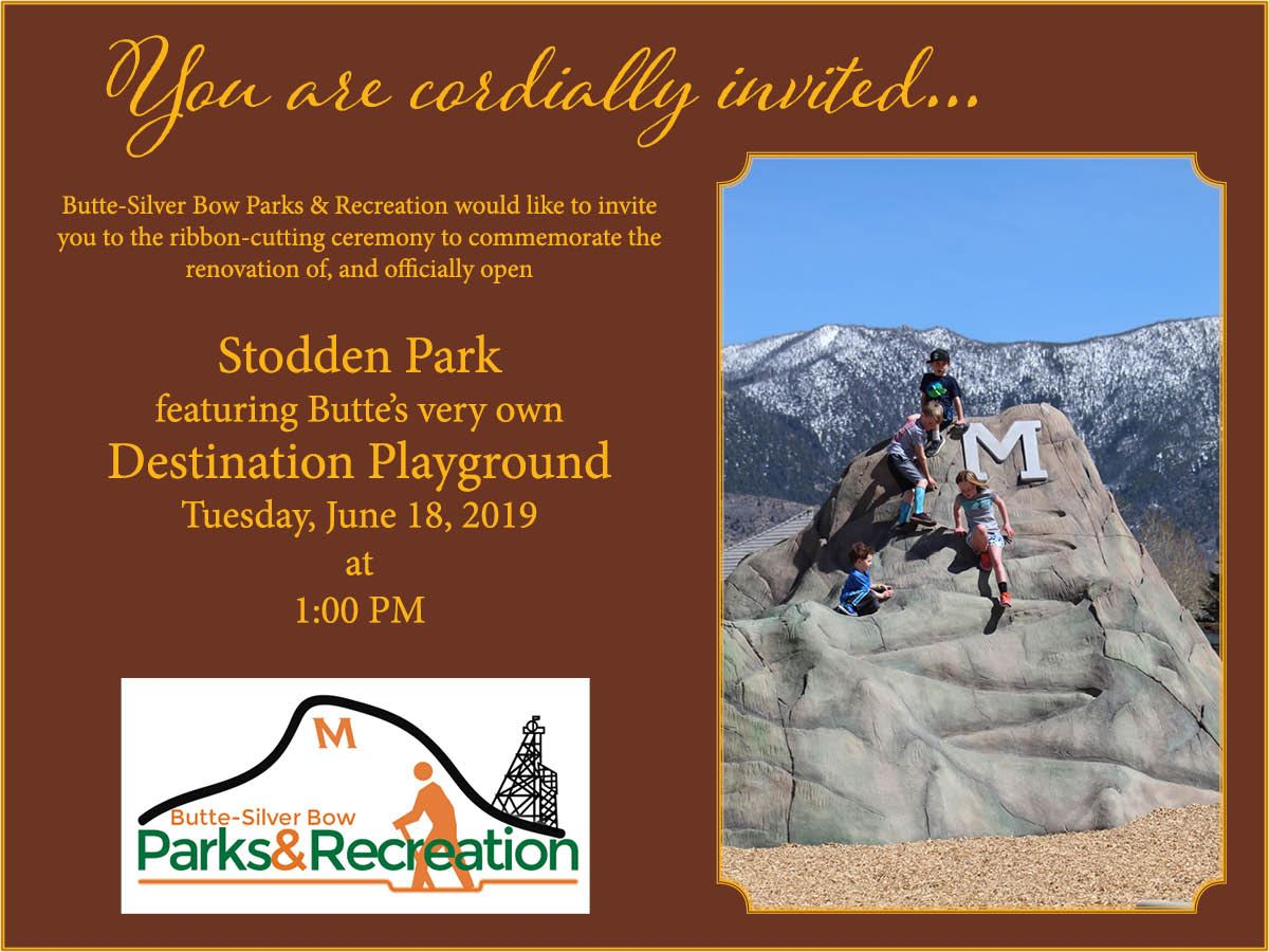 Parks and Recreation Stodden Park Ribbon Cutting Invitation